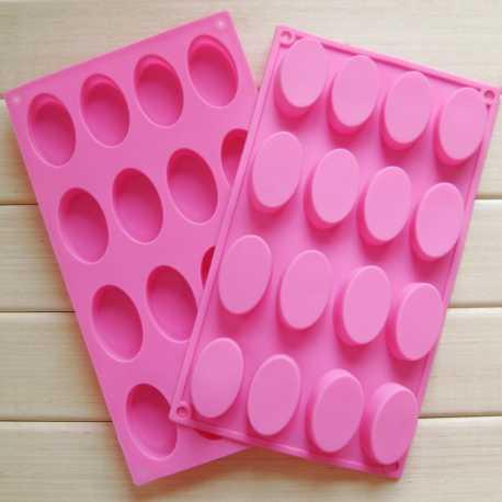 Silikónová forma na mydlo ovály 16 ks