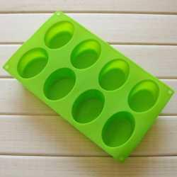 Silikónová forma na mydlo ovály 8 ks