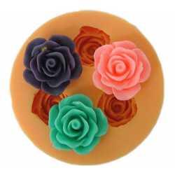 Silikónová mini formička ruža II.