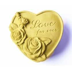Silikónová forma na mydlo srdíčko Love for ever