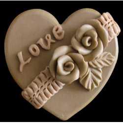 Silikónová forma na mydlo srdíčko Love VI.