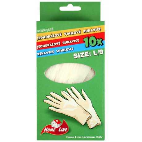 Jednorazové rukavice veľkosť L - 10ks