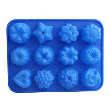 Silikónová forma na mydlo mix 12 ks