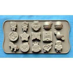 Silikónová forma na mydlo mix 15 ks