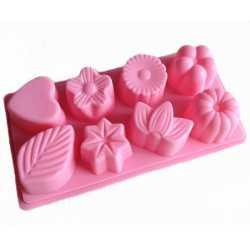 Silikónová forma na mydlo mix 8 ks