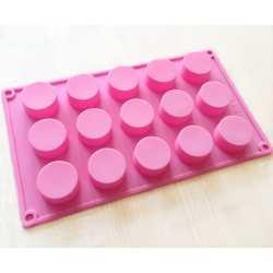 Silikónová forma na mydlo kruhy 15 ks