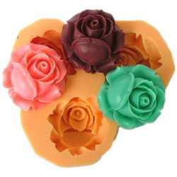 Silikónová mini formička ruža V.