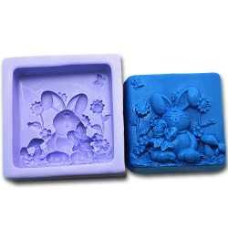 Silikónová forma na mydlo zajko