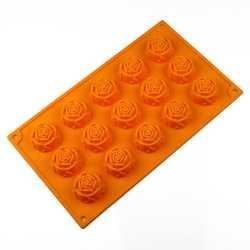 Silikónová forma na mydlo v tvare ruže - 15 ks