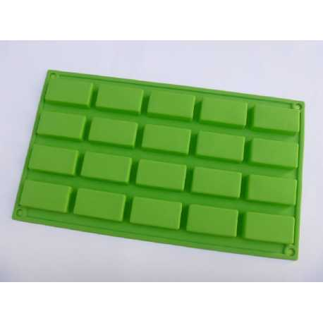 Silikónová forma na mydlo obdĺžniky 20 ks
