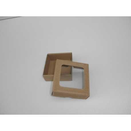 Darčeková krabička z vlnitej lepenky 9x9x3,5cm