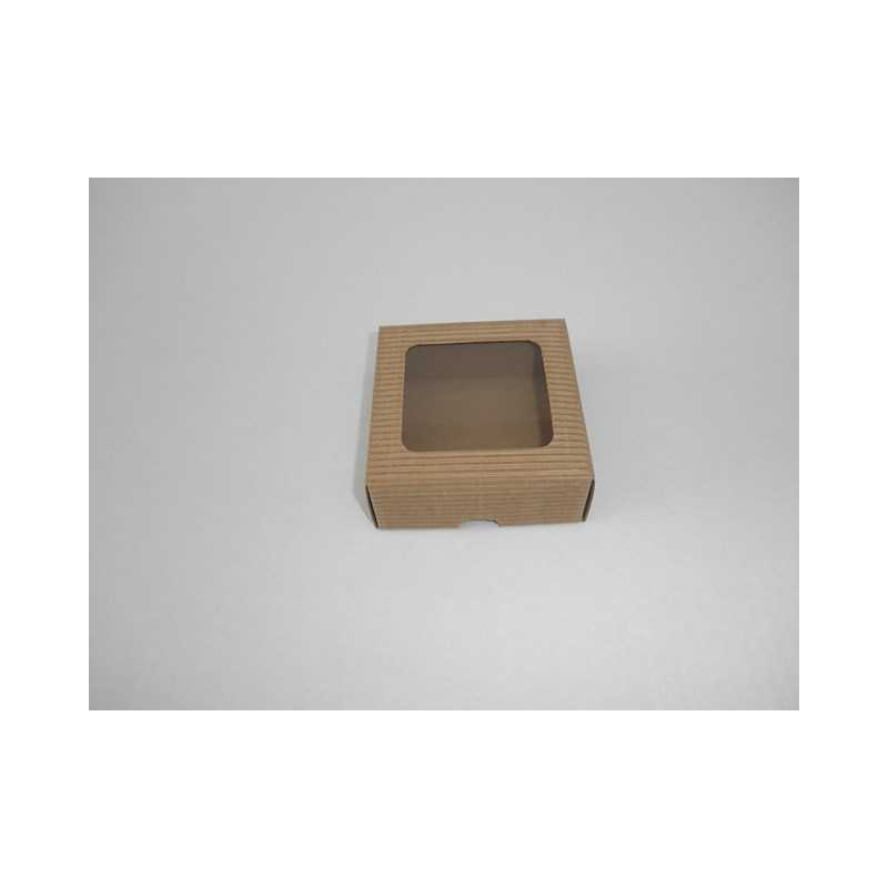 906683798 Darčeková krabička z vlnitej lepenky 9x9x3,5cm - Mydlový svet