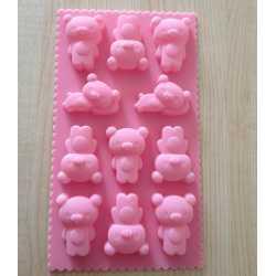 Silikónová forma na mydlo malé medvedíky