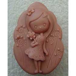 Silikónová forma na mydlo dievčatko