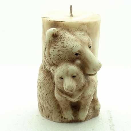 Silikónová forma na sviečku medvede