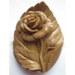 Silikónová forma na mydlo ruža na liste