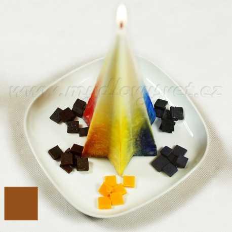 Farba na sviečky - hnedá kakaová 5g