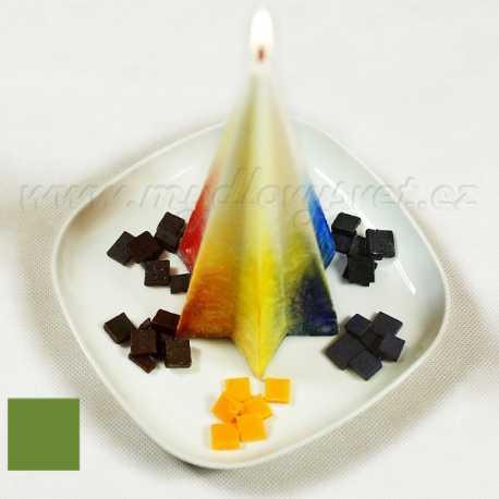 Farba na sviečky - zelená olivová 5g