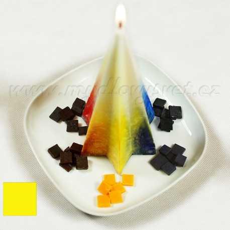 Farba na sviečky - žltá 5g