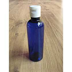 PET fľaša s odklápacím uzáverom 100 ml - modrá