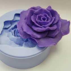 Silikónová forma na mydlo a sviečku 3D ruža II,