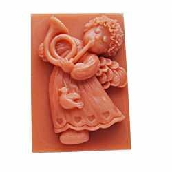 Silikónová forma na mydlo anjelik s trumpetou