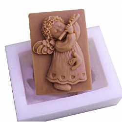 Silikónová forma na mydlo anjelik s flautou