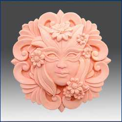 Silikónová forma na mydlo dáma s maskou