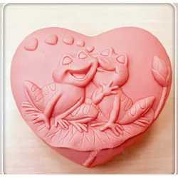 Silikónová forma na mydlo zamilované žabky