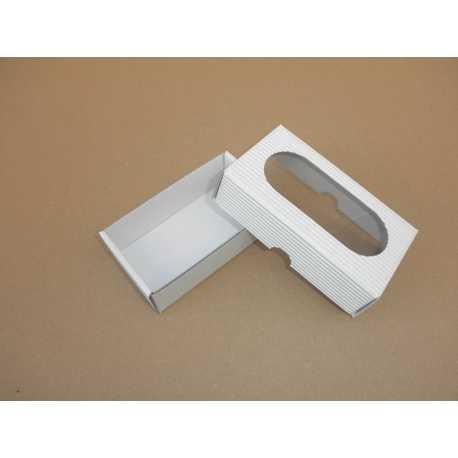 Darčeková krabička z vlnitej lepenky BIELA 12x7x3,5cm