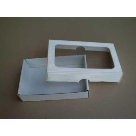 Darčeková krabička z vlnitej lepenky BIELA 15x10x3,5cm