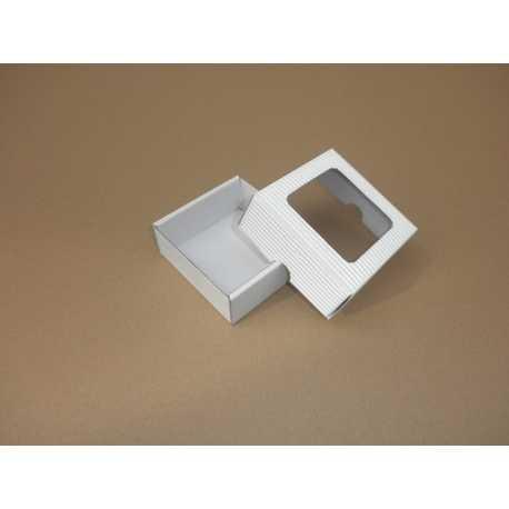 Darčeková krabička z vlnitej lepenky BIELA 9x9x3,5cm