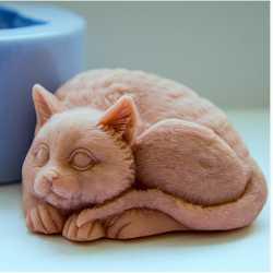 Silikónová forma na mydlo 3D mačička