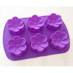 Silikónová forma na mydlo kvetinky 6ks
