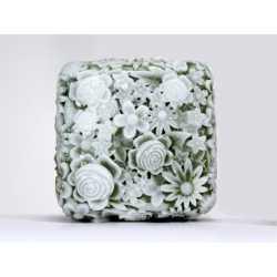 Silikónová forma na mydlo kvetinkový štvorec