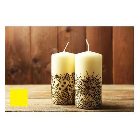 Farba na maľovanie sviečok - žltá 5g