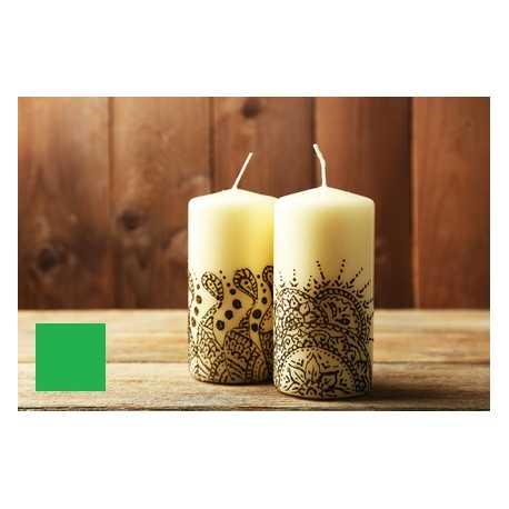 Farba na maľovanie sviečok - zelená 5g