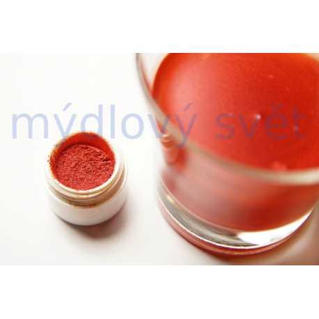 Metalická červená farba do kozmetiky 10g