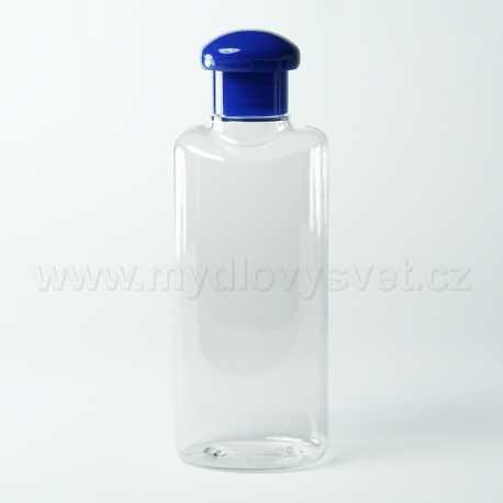 PET fľaša 200 ml + odklápací uzáver modrý