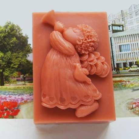 Silikónová forma na mydlo anjelik s trubkou