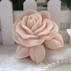Silikónová forma na mydlo ruža s lístkami