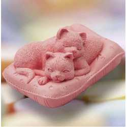 Silikónová forma na mydlo mačiatka