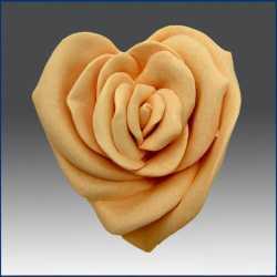 Silikónová forma na mydlo srdce - ruža