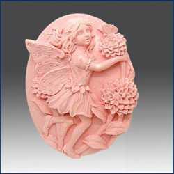 Silikónová forma na mydlo víla s chryzantémou