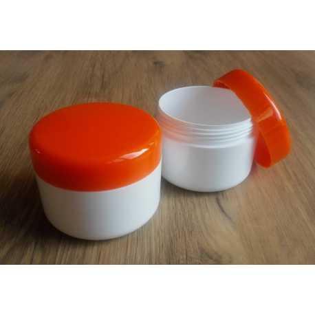 Kozmetická dóza - oranžové viečko 100ml