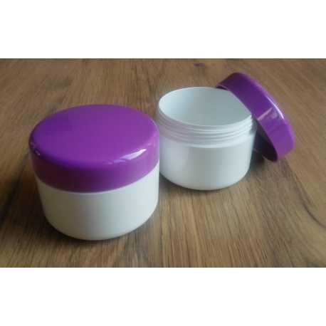 Kozmetická dóza - fialové viečko 100ml