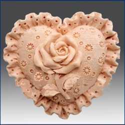 Silikónová forma na mydlo krajkové srdiečko