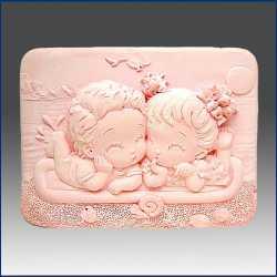 Silikónová forma na mydlo dievčatko a chlapček II.
