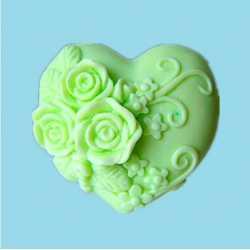 Silikónová forma na mydlo ružičkové srdiečko