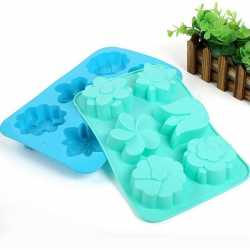 Silikónová forma na mydlo kvety mix - 6 ks
